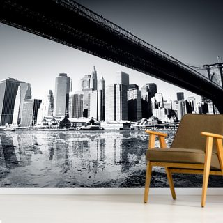 New York Black & White Wallpaper Wall Murals