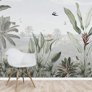 Botanical Beauty Panorama Wallpaper Wall Murals