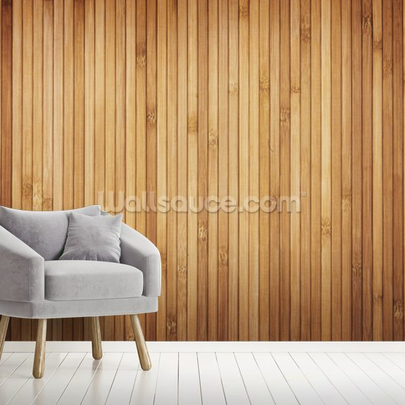 Wood Texture Narrow Planks mural wallpaper room setting