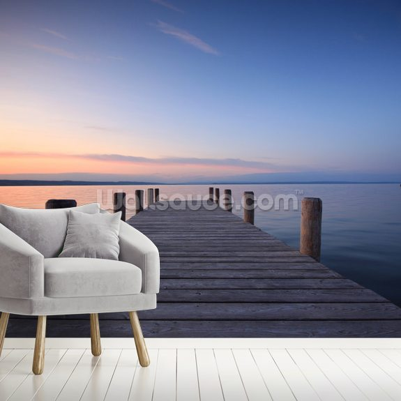Jetty Sunset wall mural room setting