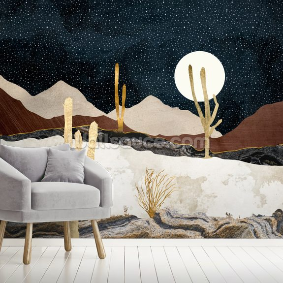 Desert View wallpaper mural room setting