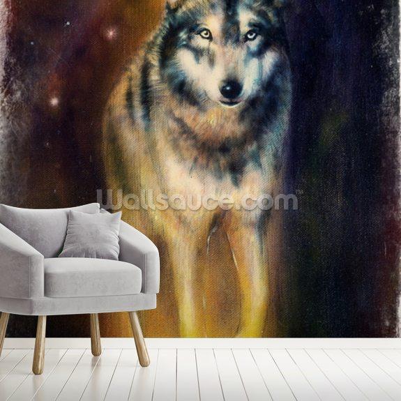 wolf night wallpaper