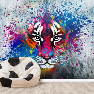 Tiger Art Wallpaper Wall Murals