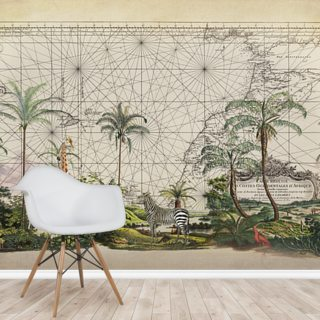 Western African Animals Wallpaper Wall Murals