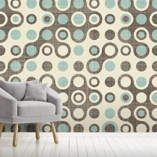 Blue Brown Retro Pattern