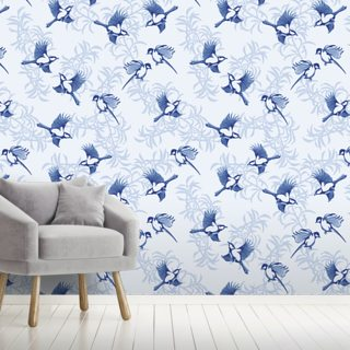 Lovebirds Wallpaper Wall Murals