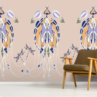 The Butterfly Goddess Wallpaper Wall Murals