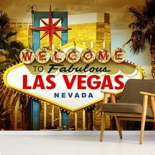 Las Vegas Welcome Wallpaper Wall Murals