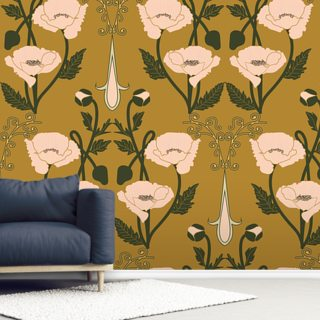 Nouveau Anemone Wallpaper Wall Murals