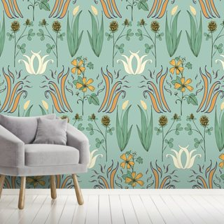 Nouveau Country Wallpaper Wall Murals