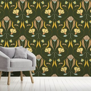 Nouveau Delication Wallpaper Wall Murals