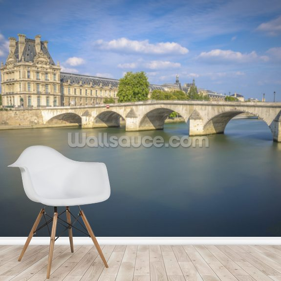 Pont Royal and Louvre wall mural room setting