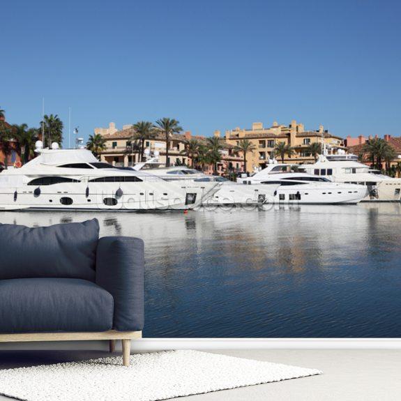 Sotogrande Marina Luxury Yachts Wallpaper Mural Wallsauce Au