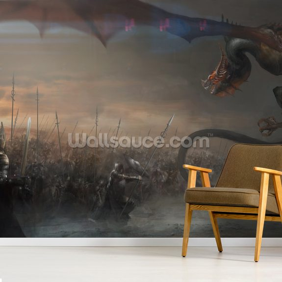 Warcraft mural wallpaper room setting