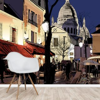 Montmartre in Winter Wallpaper Wall Murals