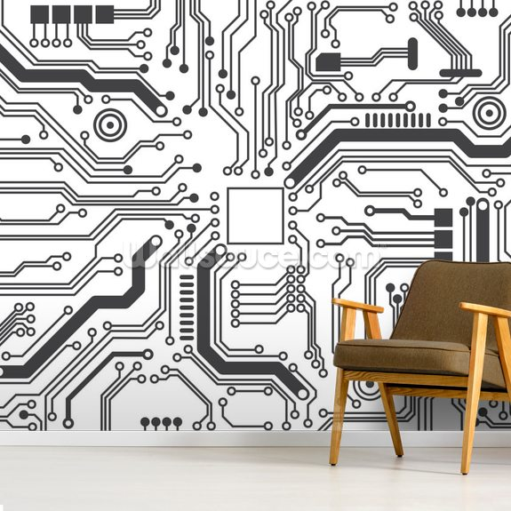 Circuit Board Background Texture mural wallpaper room setting