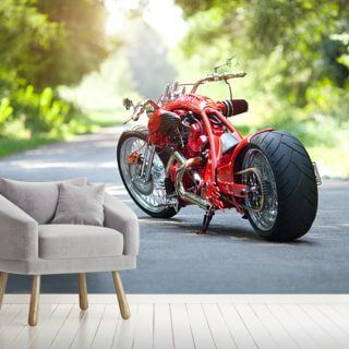 Red Motorbike Wallpaper Wall Murals