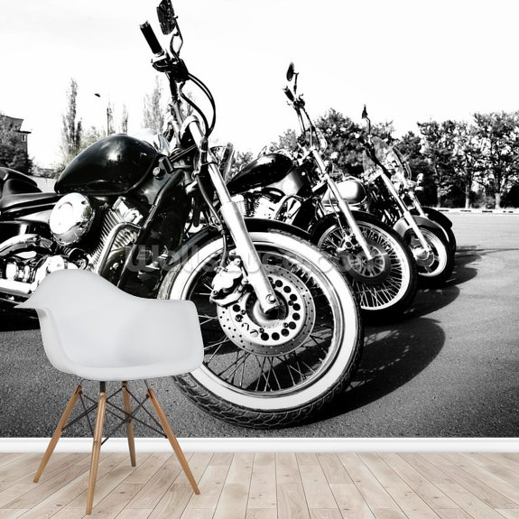 Motorcylces wall mural room setting