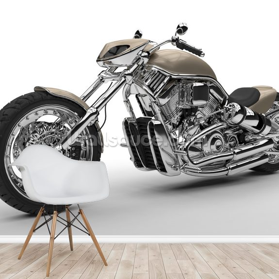 Chrome Chopper wallpaper mural room setting