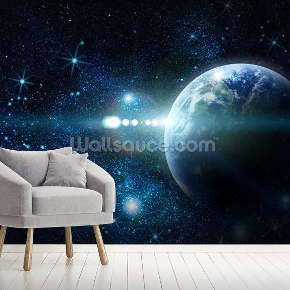 Realistic Planet Earth Wallpaper Mural Wallsauce Uk