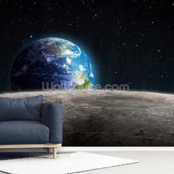 Rising Earth wall mural room setting