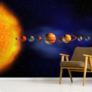 Solar System Wallpaper Wall Murals
