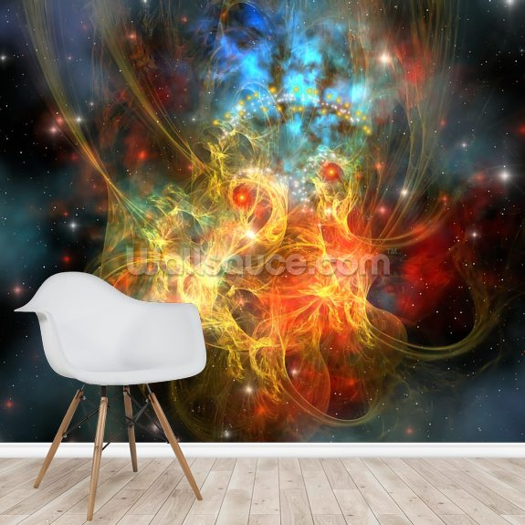 Princess Nebula wall mural room setting