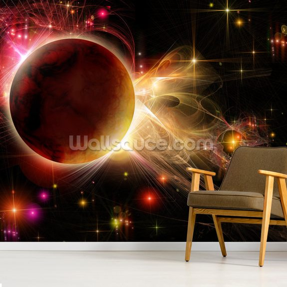 Double Sunset wall mural room setting