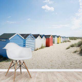 Brightly Coloured Beach Huts
