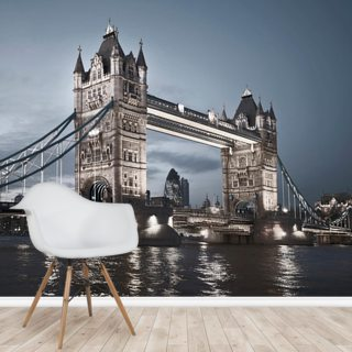 Tower Bridge at Night Wallpaper Wall Murals