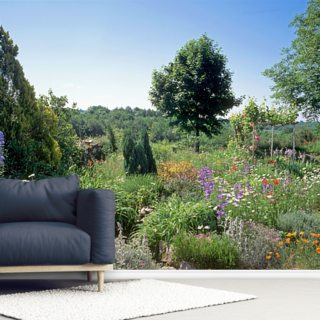 Country Flower Garden Wallpaper Wall Murals