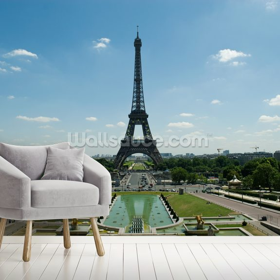 Iconic Paris wallpaper mural room setting
