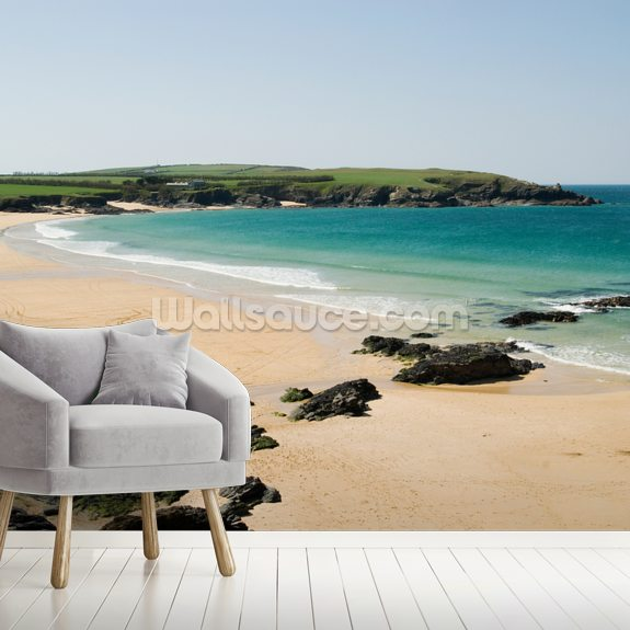 Harlyn Bay - Cornwall mural wallpaper room setting