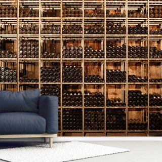 Wine Racks Wallpaper Wall Murals