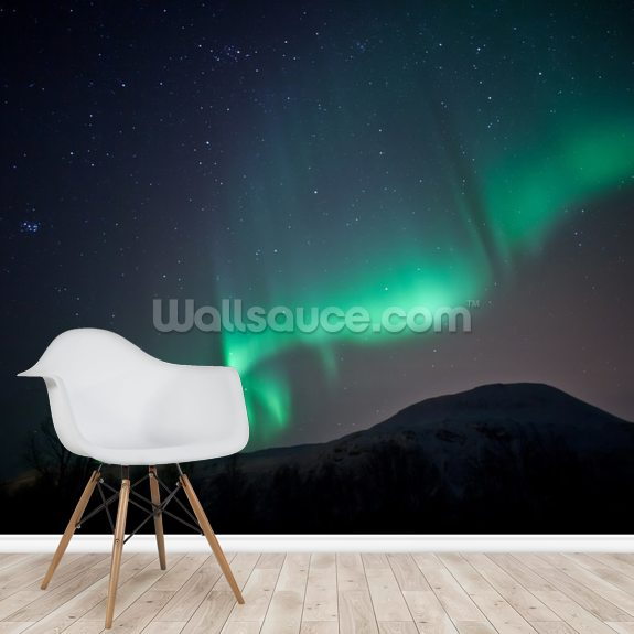 Aurora Borealis Sky wallpaper mural room setting
