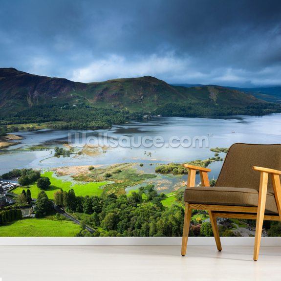 Derwent Water - Allerdale mural wallpaper room setting