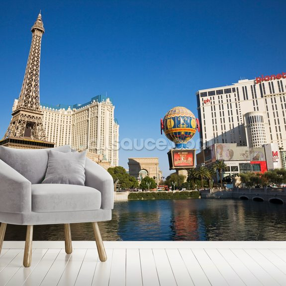 Las Vegas Strip wallpaper mural room setting
