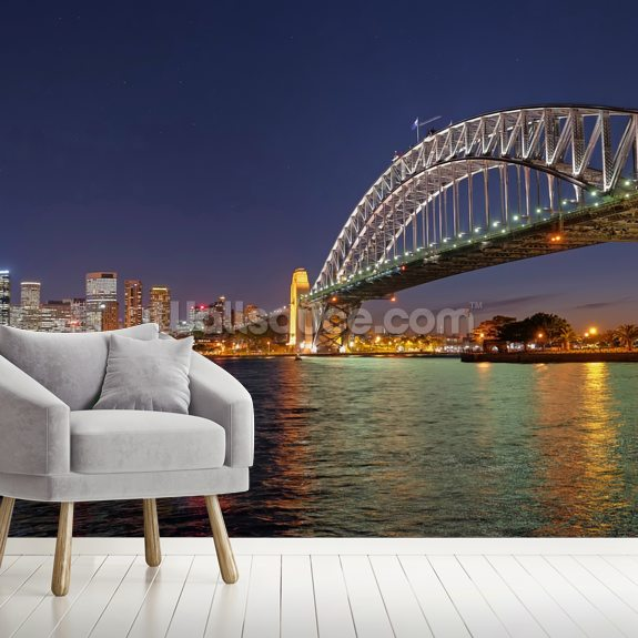 Buy Custom Designer Wallpapers In Sydney: Sydney Harbour Bridge Reflections Wall Murals