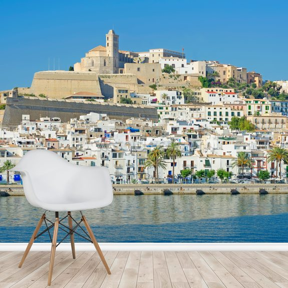 Ibiza Town wallpaper mural room setting