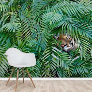 tiger hide and seek wall mural wallsauce us