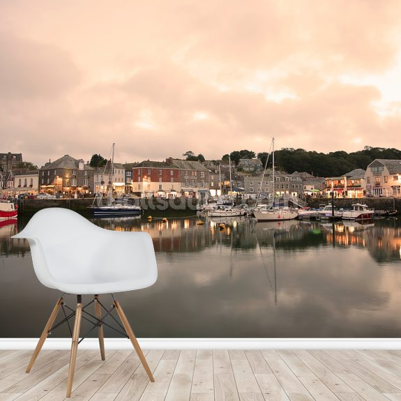 Padstow Cornwall wall mural room setting