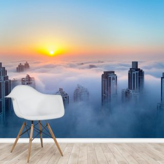 Dubai at Dawn Wallpaper Wall Murals