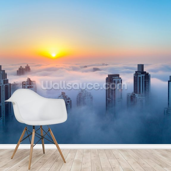 Dubai at Dawn wallpaper mural room setting