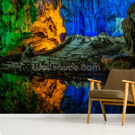 Hang Dau Go Wooden Stakes Caves - Vietnam wallpaper mural room setting