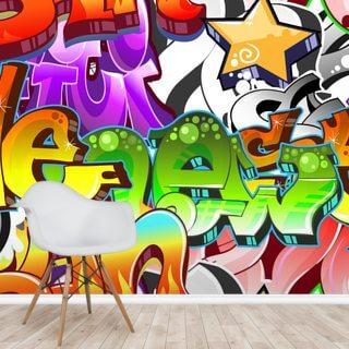 Graffiti Wall Art Wallpaper Wallsauce Uk