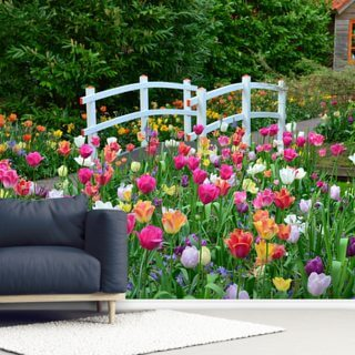 Keukenhof Tulips Wallpaper Wall Murals