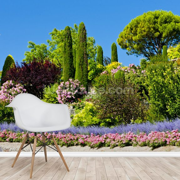 Gardens at Gordes, Provence wall mural room setting