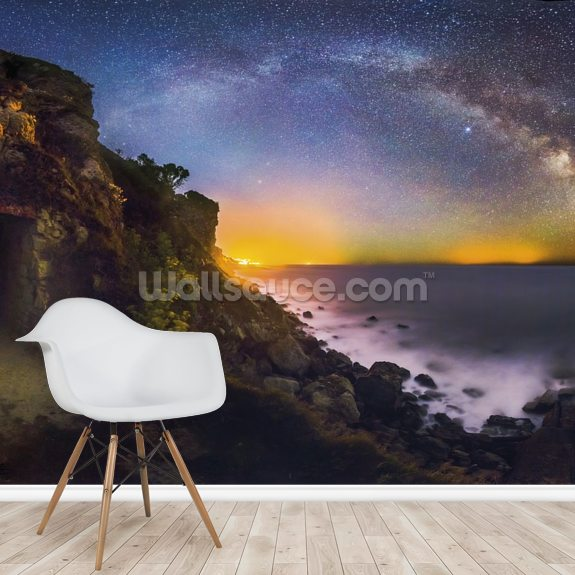 Discover our universe wall mural room setting