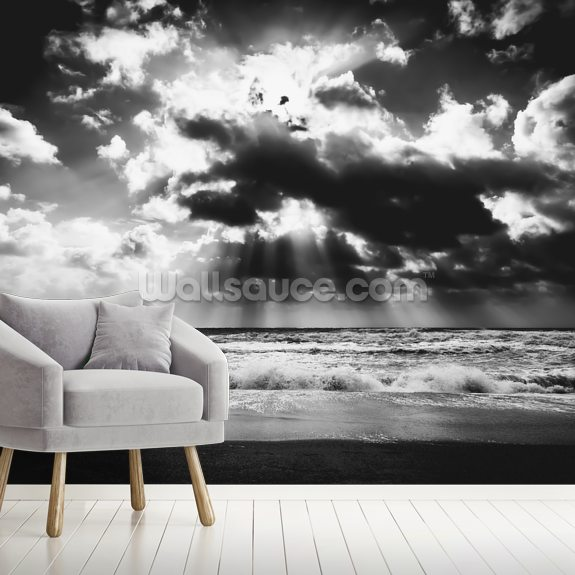 The calm before the storm wallpaper mural room setting