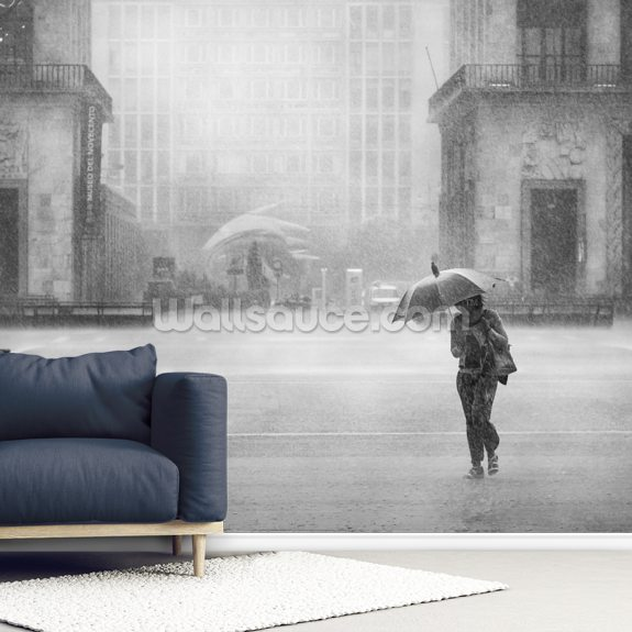 Hard Rain is Gonna Fall wallpaper mural room setting